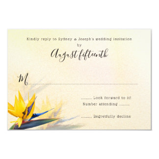 Bird-of-Paradise Hawaiian Flowers Reply Cards