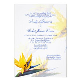 "Bird of Paradise Hawaiian Wedding Invitation 5"" X 7"" Invitation Card"