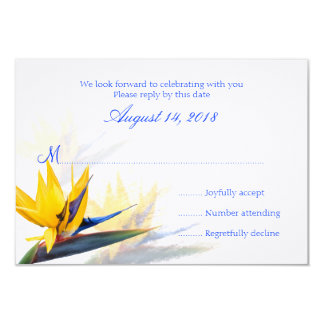 Bird of Paradise Hawaiian Wedding Reply Cards