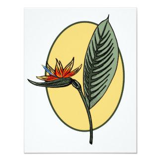 Bird of Paradise Custom Invitation
