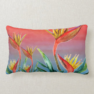 Bird of Paradise Lumbar pillow from art