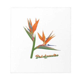 Bird Of Paradise Notepad