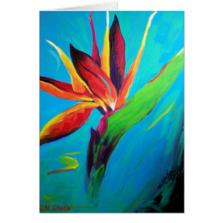 Bird of Paradise On Fire Notecard