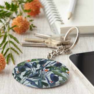 Bird of Paradise Pattern V2 Keychain