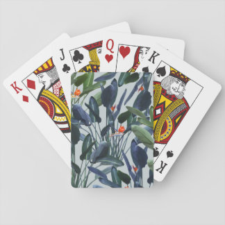Bird of Paradise Pattern V2 playing card