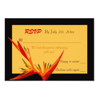 Bird of Paradise Response Card
