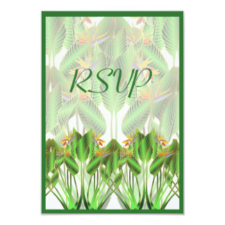 "Bird-of-Paradise RSVP Card 3.5"" X 5"" Invitation Card"