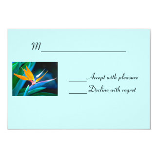 "Bird of Paradise RSVP card 3.5"" X 5"" Invitation Card"
