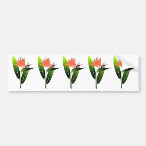 Bird of Paradise Silk Screen Bumper Sticker