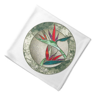 Bird of Paradise Stained Glass Look Bandanas