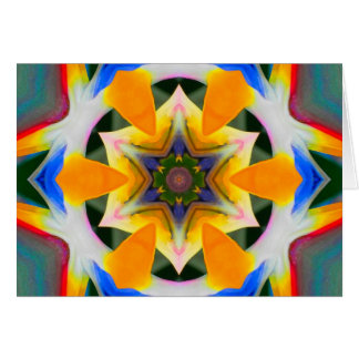 Bird of Paradise Star Mandala Card