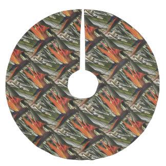 Bird of Paradise (Strelitzia) Brushed Polyester Tree Skirt