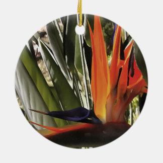 Bird of Paradise (Strelitzia) Ceramic Ornament