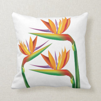 Bird of Paradise Tropical Floral Throw Pillow