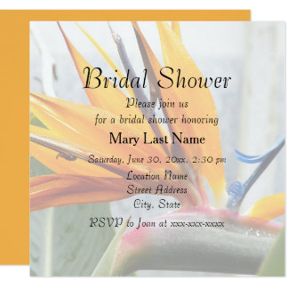 Bird of Paradise Tropical Flower Bridal Shower Card