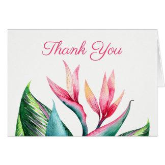 Bird of Paradise Tropical Thank You Card