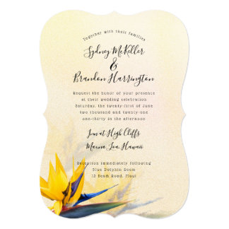 Bird-of-paradise Tropical Wedding Invitation