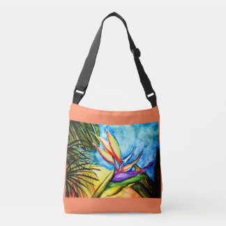 Bird of Paradise Watercolor Crossbody Bag