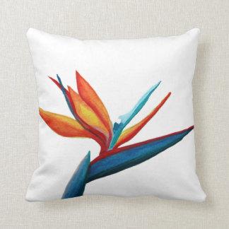 Bird of Paradise Watercolor Pillow Throw Cushions