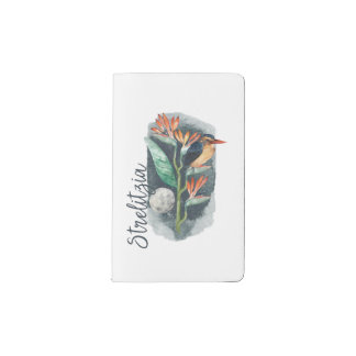 Bird of Paradise watercolor Pocket Moleskine Notebook