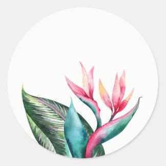 Bird of Paradise Wedding Favor Stickers