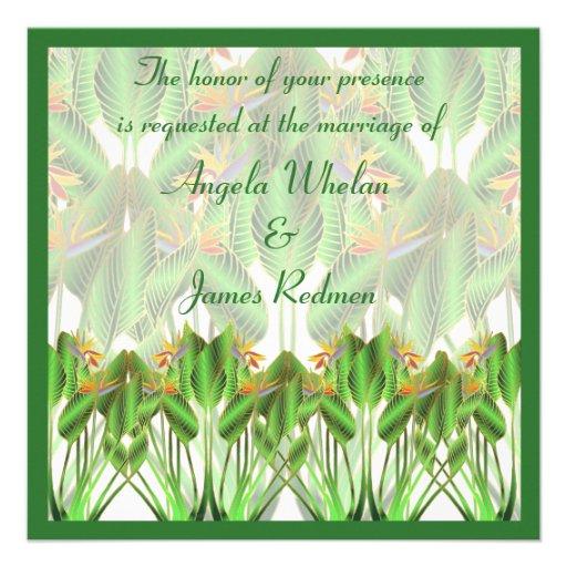 Bird-Of-Paradise Wedding invitation