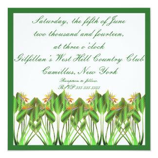 "Bird-Of-Paradise Wedding invitation 5.25"" Square Invitation Card"