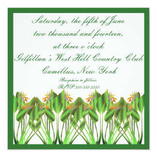 Bird-Of-Paradise Wedding invitation