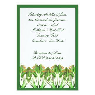 "Bird-of-Paradise Wedding invitation 5"" X 7"" Invitation Card"
