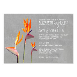 Bird of Paradise Wedding Invitations