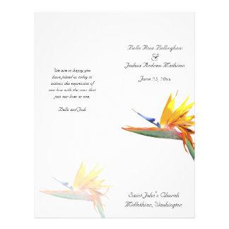 Bird of Paradise Wedding Program Flyer