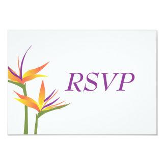 Bird of Paradise Wedding RSVP Card