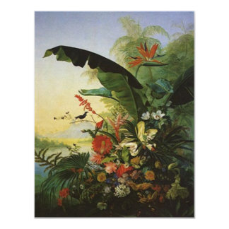 """Bird of Paradise WEDDING SAVE THE DATE note 4.25"""" X 5.5"""" Invitation Card"""