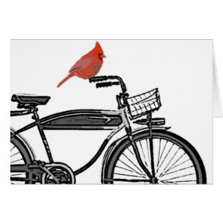 Bird on a Bike Card