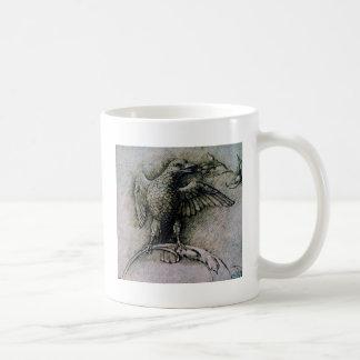 Bird on a branch by Andrea Mantegna Basic White Mug