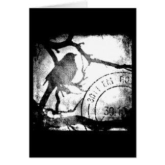 Bird on A Branch Monochrome Card