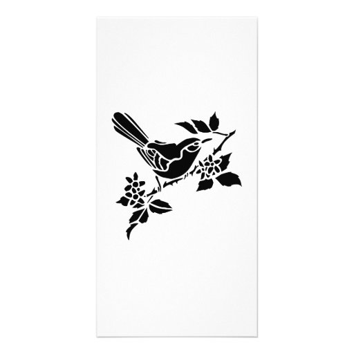 Bird on a Branch Photo Card Template