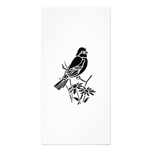 Bird on a Branch Picture Card