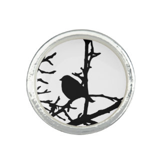 Bird on a Branch Ring