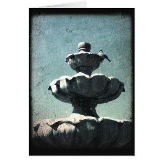 Bird On a Fountain Card