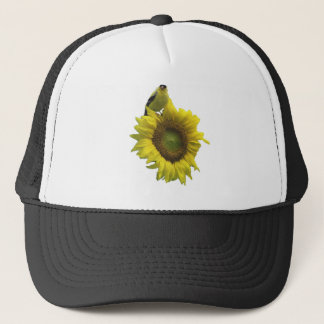 Bird On A Sunflower Trucker Hat
