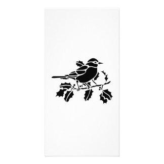 Bird on a Tree Branch Custom Photo Card