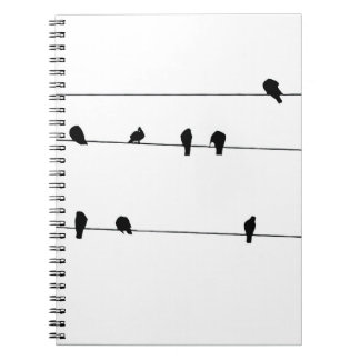 bird on a wire notebook