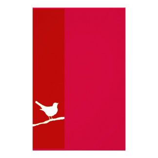 Bird on a Wire Red Stationery