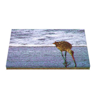 Bird On Beach ArtisticVegas Canvas Print