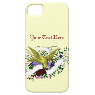 Bird on Bouquet (Full Colour) iPhone 5 Cases