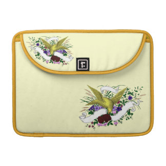 Bird on Bouquet (Full Colour) Sleeve For MacBook Pro