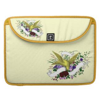 Bird on Bouquet (Full Colour) Sleeves For MacBooks