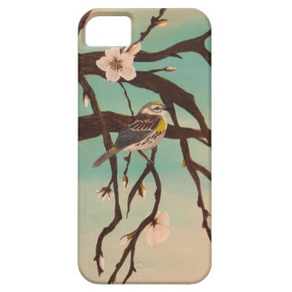 Bird on branch watercolor iPhone 5 cases