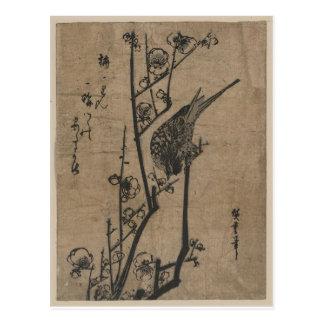 Bird on Plum Branch Postcard